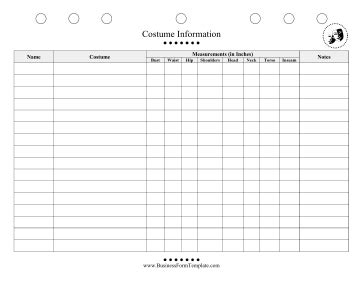 conflict list template theatre all actor costumes and measurements in inches can be