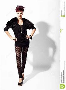 High Fashion Model Is Standing Pose Stock Image - Image ...