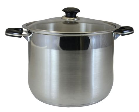 concord  qt stainless steel stock pot cookware tri ply bottom heavy duty ebay