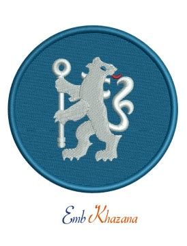Chelsea Lion With Circle Logo Embroidery Design | Circle ...