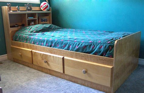 woodworking project paper plan  build  mates twin bed bookcase headboard ebay
