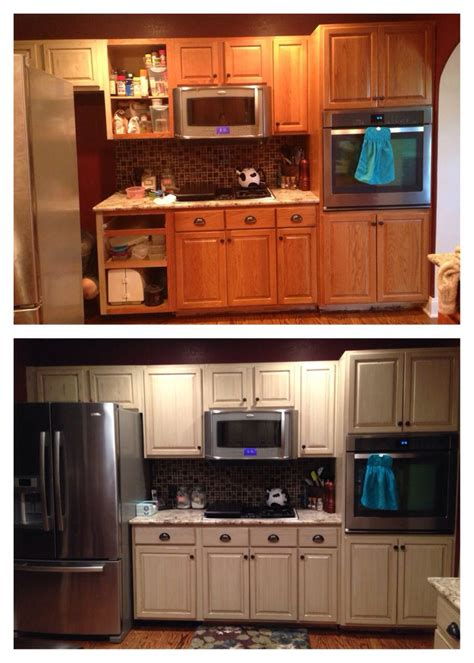 satin finish kitchen cabinets cabinet refinish using general finishes linen milk paint 5076