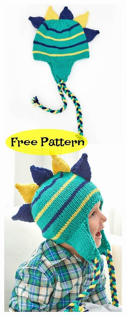 Dinosaur Knitting Hat Pattern Patterns Knitted Hats