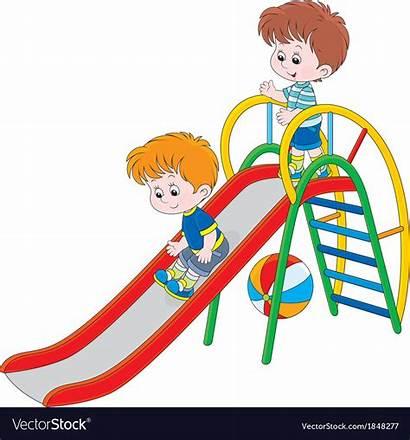 Slide Vector Playing Sliding Play Children Playground