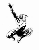 Daredevil Coloring Pages Inked Ink Marvel Comics Drawings Bergman Desmet Resources Screen Deviantart Sketch Popular Coloringhome Comments sketch template