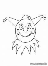 Clown Coloring Mask Drawing Trapeze Jester Face Faces Evil Scary Draw Circus Sleep Hellokids Getdrawings Popular sketch template