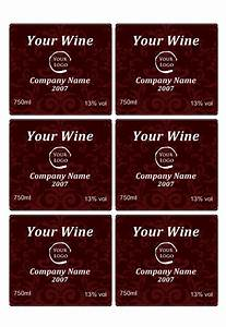 wine label template personilize your own wine labels With customized wine labels free