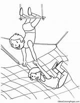 Artist Trapeze Coloring Pages Template Sketch sketch template
