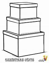 Coloring Gift Boxes Yescoloring sketch template