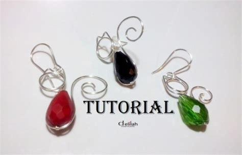 diy wire wrapped cat earrings