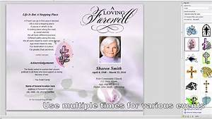 quick overview editing our funeral template youtube With funeral handouts template
