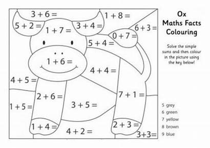 Maths Colouring Facts Math Coloring Worksheets Pages