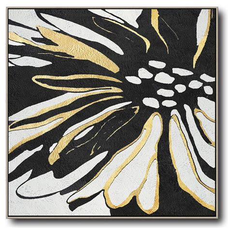 Abstract Black Flower Painting by Minimal Flower Mn306a In 2019 Risanje