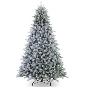 prelit artificial christmas trees frosted maine blue spruce pre lit artificial christmas tree