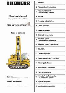 Liebherr Rl64 Pipe Layer Series 4 Litronic Service Repair Manual