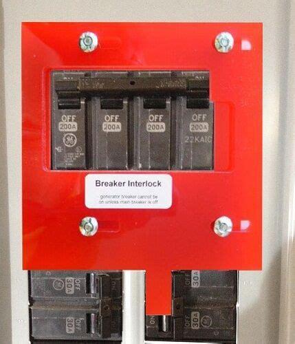 ge 4 generator interlock kit for general electric breaker