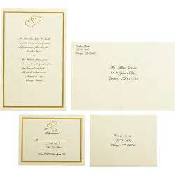 walmart wedding invitations kit wilton wedding gold sweetheart invitation set 50 count walmart