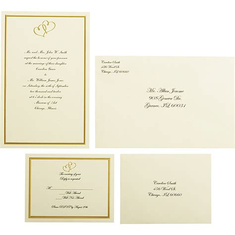 Wilton Print Templates by Wilton Wedding Gold Sweetheart Invitation Set 50 Count