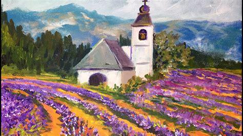 paint lavender fields  provence france