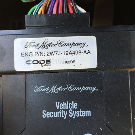 security system 1990 ford tempo security system instruction for code system alarm h63db ford f150 forum community of ford truck fans