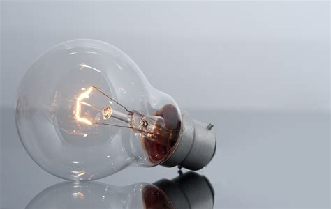 image of clear light bulb with glowing filament freebie