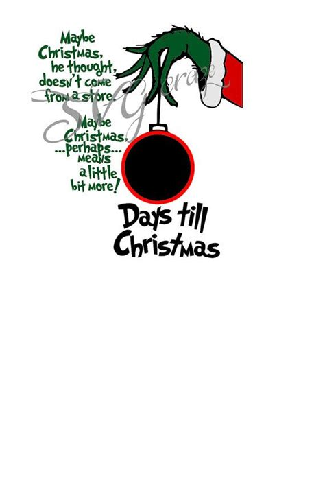 days till christmas template pin by cindy ford on christmas ornaments pinterest