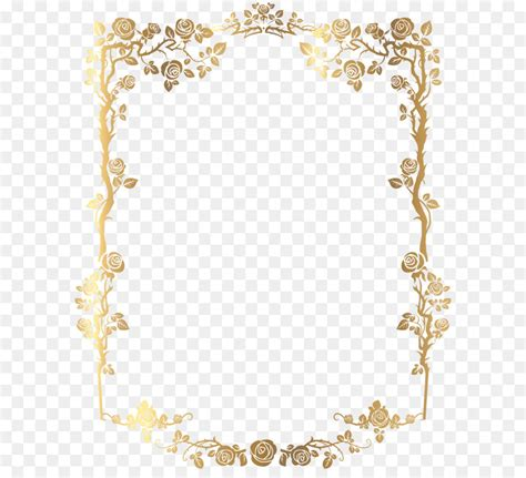 picture frame clip art golden rectangular french floral