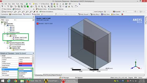glue   layered material  ansys