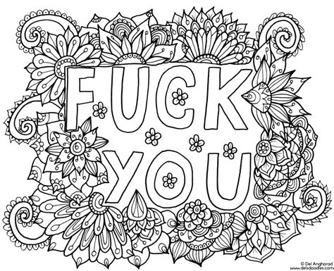Fuck You Coloring Page. Click The 'download' Link On The