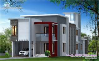 1700 sq flat roof contemporary home design house