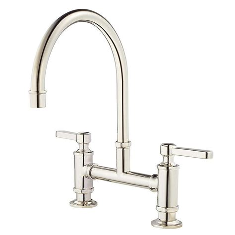 polished nickel kitchen faucet shop pfister port polished nickel 2 handle deck