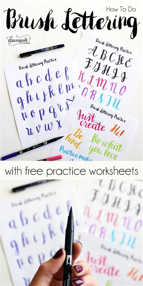 hand lettering printables