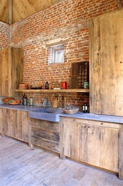 cuisine en bois brut bois brut en cuisine paperblog