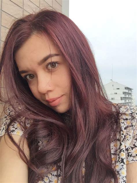 Red And Pink Over Dark Brown Hair Brown Pink Hair Pink