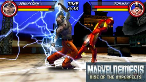 marvel nemesis rise   imperfects psp games