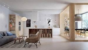 appartement moderne aux faux airs dun loft vivons maison With good plan d appartement 3d 9 amenagement sejourcuisine bureau