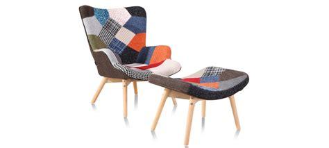 fauteuil scandinave patchwork