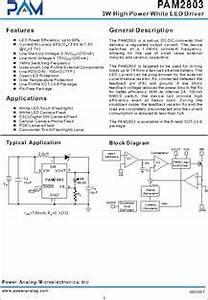 pam2803 datasheet 3w high power white led driver With 3w power led driver circuit pwm high power led driver step down dc