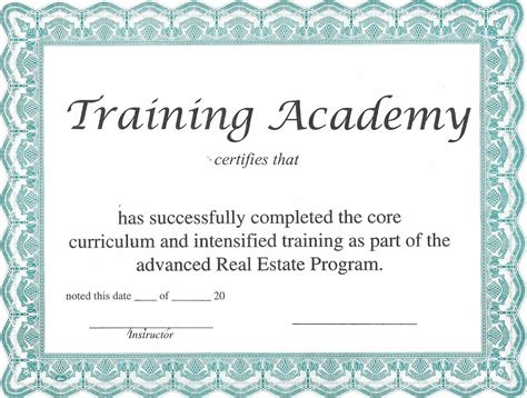 Traininb Certificate Template by Certificate Borders Completion Certificates Award Tattoo