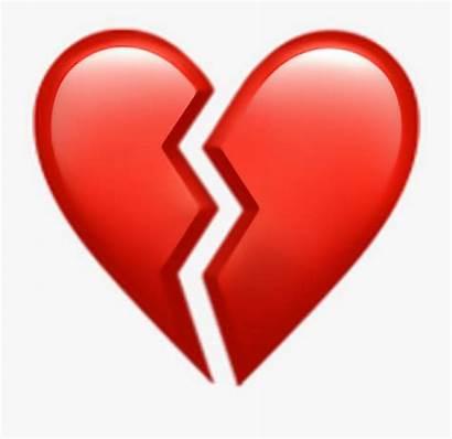 Heart Broken Emoji Clipart Transparent Picsart Iphone