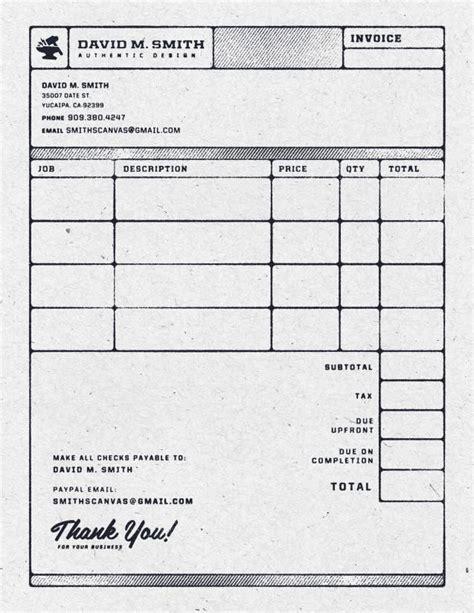 contoh invoice menarik contoh iii