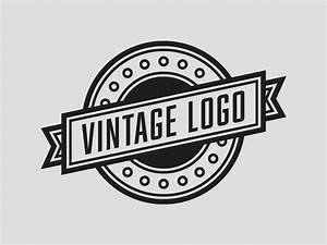 vintage logo template rainbowlogos With template logo
