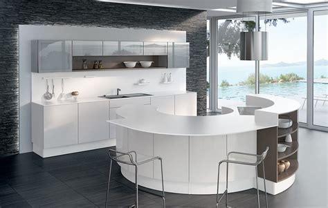 cuisine avec ilot central arrondi decoration cuisine ilot design cuisine design ilot avec