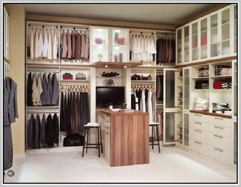 Pull Down Closet Rod : Light Brown Wooden Closet System