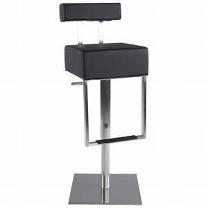 Tabouret De Bar Moderne : tabouret de bar moderne rotatif et r glable gardon noir ~ Dailycaller-alerts.com Idées de Décoration