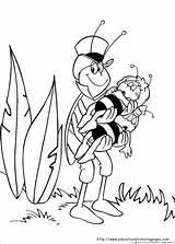 Bee Maya Coloring Pages Educational Preschool Printable sketch template