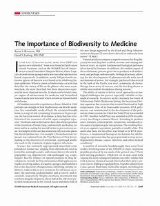 The Importance Of Biodiversity To Medicine Fungal