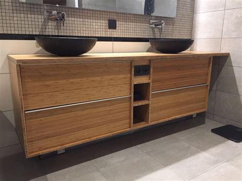 meuble cuisine dans salle de bain meuble de salle de bain godmorgon en bambou massif