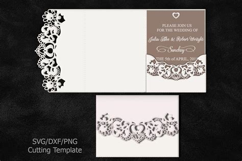 bundle big set wedding invitations svg laser cut templates