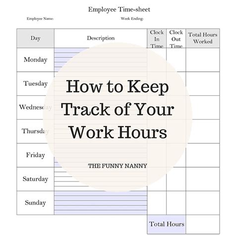 Au Pair Daily Schedule Template by How To Keep Track Of Your Work Hours